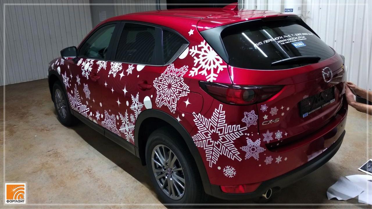 новогодний декорирования автомобиля